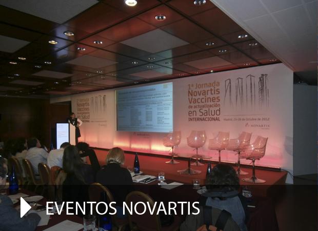 Producción gráfica evento Novartis