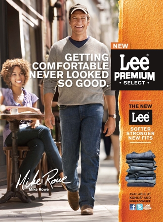 Mike Rowe Print Lee Ad