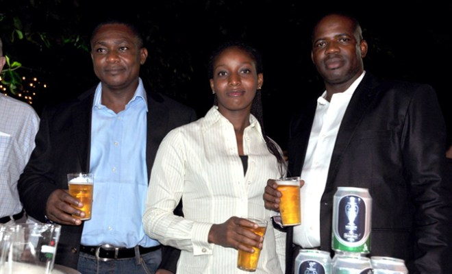 Heineken consumers having a great time, during the 25th Anniversary celeberation of the Intercontinental Night in Lagos...