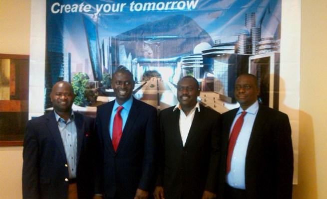 Stanley Muoneke, Business Development Manager Intel WA, Olubunmi Ekundare, MD Intel WA, Olufemi Babajide, Market Development Manager Intel WA, Onuora Molokwu, COO Cosse