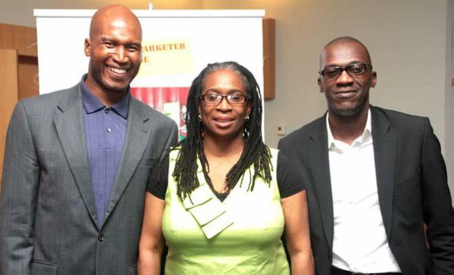Guest Speaker, Kayode Fahm, Convener, Funke Babatola, Moderator, Leslie George at YMC 2.2