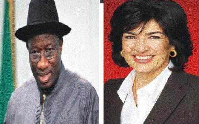President Goodluck Jonathan AND Christiane Amanpour