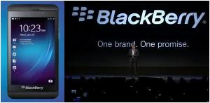 The Z10 touchscreen model of the BlackBerry 10 generation, BlackBerry CEO, Thorsten Heins.