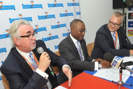 Managing Director, Promasidor Nigeria Limited, Chief Keith Richards, Head, Legal and Public Relations, Promasidor Nigeria Limited, Andrew Enahoro and Strategy Director, Promasidor Nigeria Limited, Anders Einarsson