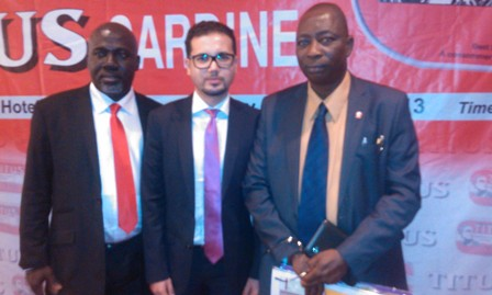 Middle: Global Marketing Director, Uninimer, Mohammed Edderkaoui and (R) CEO, DP Partnership + DraftFCB, Odun Fadoju