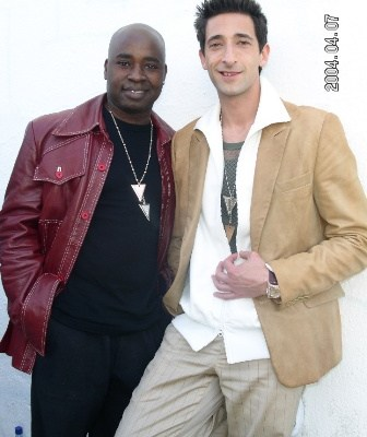 Chris Aire with Adrien Brody