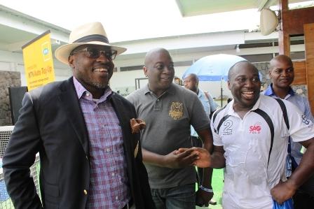 L-R: President, Lagos Polo Club, Habeeb Fasinro, Femi Akande and captain of the Lagos Sao Polo team, Bode Makanjoola at the MTN Lagos International Polo Tournament currently taking place in Lagos State