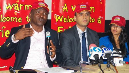 (L-R) Public Relations &Event Manager Dufil Prima Foods Plc, Mr. Tope Ashiwaju, Head Marketing, Dufil Prima Foods Plc, Mr. Manpreet Singh and Brand Manager, Dufill Prima Foods Plc, Miss Dishna Agarwal at the Press Conference of the Indomie Independence Day Awards in Lagos recently