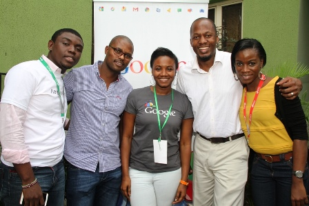 From Left, Agency Relationship Manager, Ayode Akinfemiwa; Analytical Lead South Africa, Irvin Montshiwa; Analytical Lead (Nigeria), Tolu Akinyele; Business Development Association, Lanre Aina and Industry Manager, Tutu Laditan all of Google during the Google Digital Excellence Training organized for Advertising and Digital Executives held at the Renaissance Hotel in Lagos on Wednesday 9th of July 2014