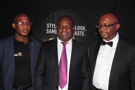 From Left: Regional Sales Director, South West, Guinness Nigeria Plc, Mr. Afeez Ajibowu; Guinness Distributor of the Year 2014 and Managing Director, Edinho Nigeria Limited, Chief Edmond Okafor and Regional Sales Director, South East, Guinness Nigeria, Mr. Chizoba Ojielo at the 2014 Guinness Nigeria Sales and Distributors Award ceremony held at Time Square, Ikeja on Friday
