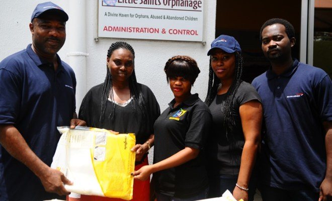 British Airways donation of Mosquito Nets to Little Saint Orphanage Home