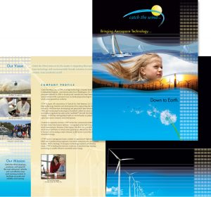 Catch the Wind, Inc. corporate folder / brochure