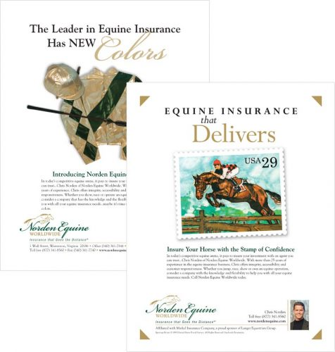 Ad series for Norden Equine Worldwide in Warrenton VA