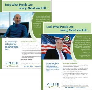 Ad series for Vint Hill Economic Development Authority in Virginia