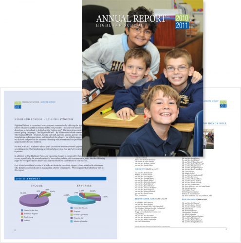 Highland School in Warrenton VA Annual Report
