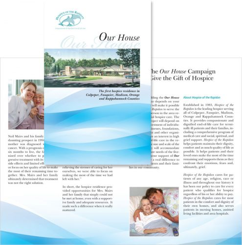 Hospice of the Rapidan in Virginia Our House brochure