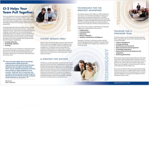 Ci2 brochure inside spread