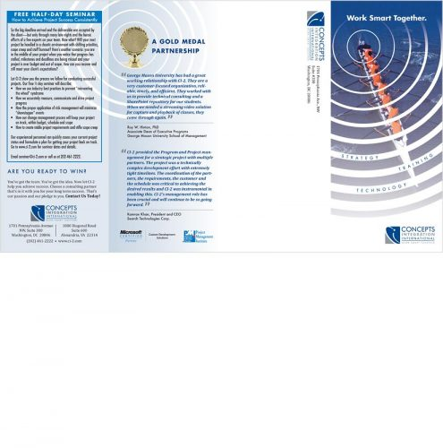 Ci2 direct mail brochure outside spread