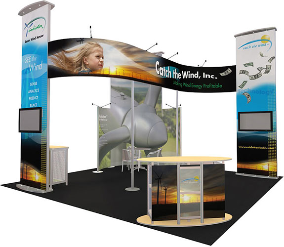 Catch the Wind, Inc. trade show booth