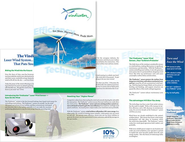 Catch the Wind, Inc. Vindicator™ product brochure