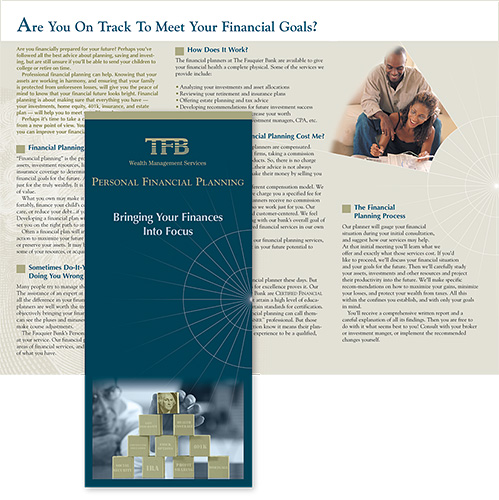 TFB Wealth Management Services in VA brochure for personal financial planning