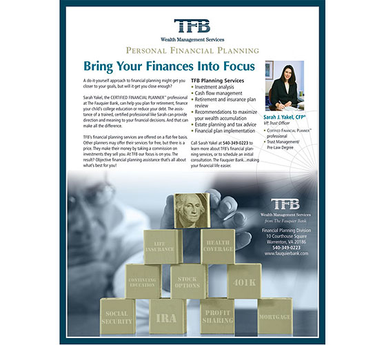 TFB Wealth Management Services in VA ad for personal financial planning