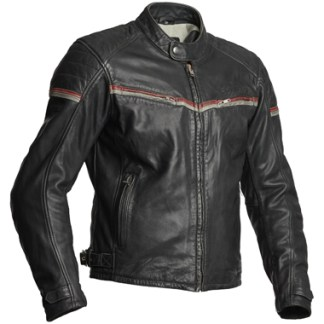 Halvarssons Eagle Leather Motorcycle Jacket in Black and Red