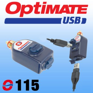 O115 Optimate Straight DIN to Dual USB Charger