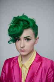 latest green hairstyles- 23