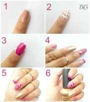 diy gold chevron nail design-step