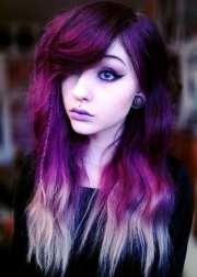 purple hairstyles- 50 cute