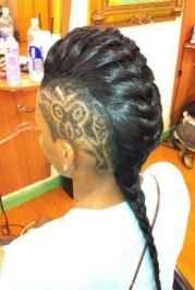 braids with shaved hairstyles