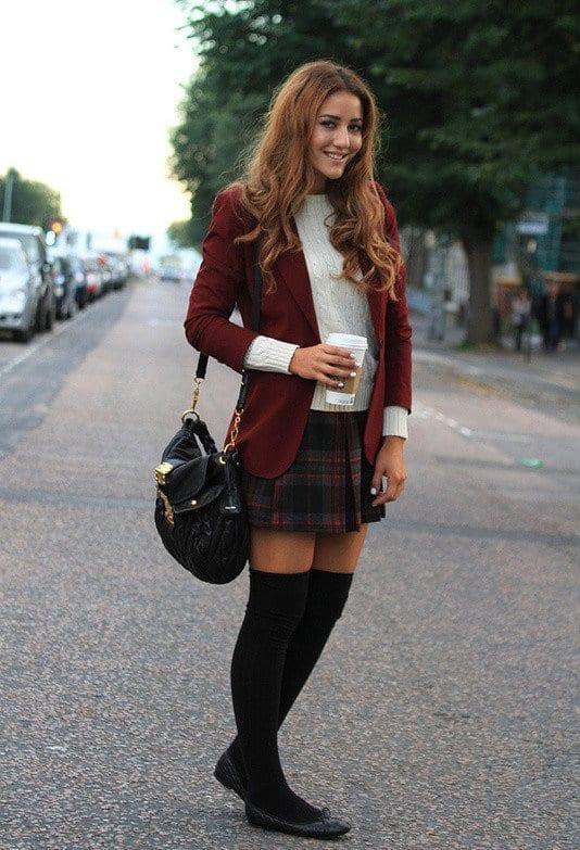 And Knee Skater Skirt Socks