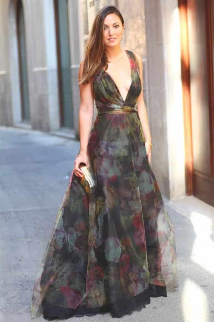 Pretty long dresses to wear to a wedding