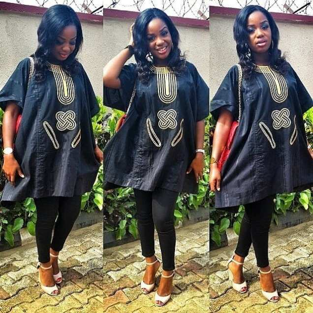 Agbada-Dresses-with-Tights Agbada Outfits for Women - 20 Ways to Wear Agbada in Style