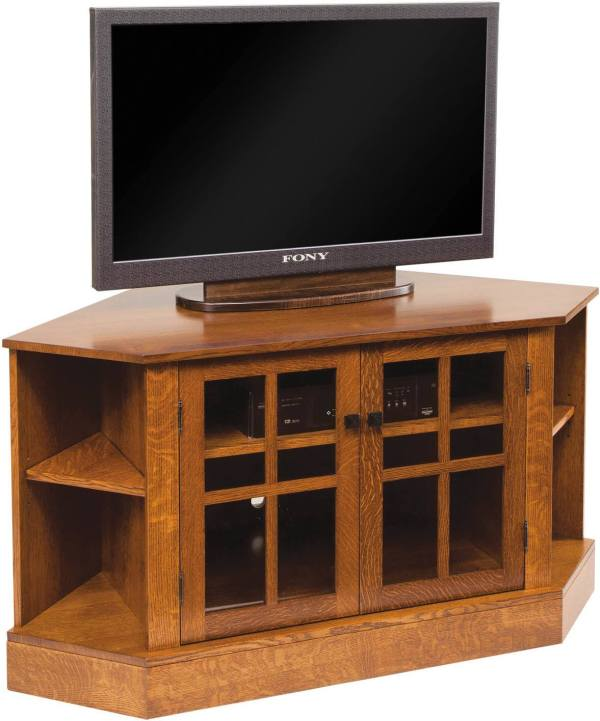 Amish Corner TV Stands and Cabinets