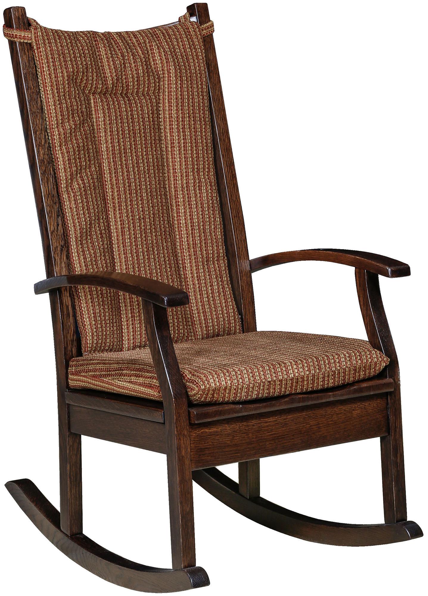 amish made rocking chair cushions bungee canada aspen rocker brandenberry furniture