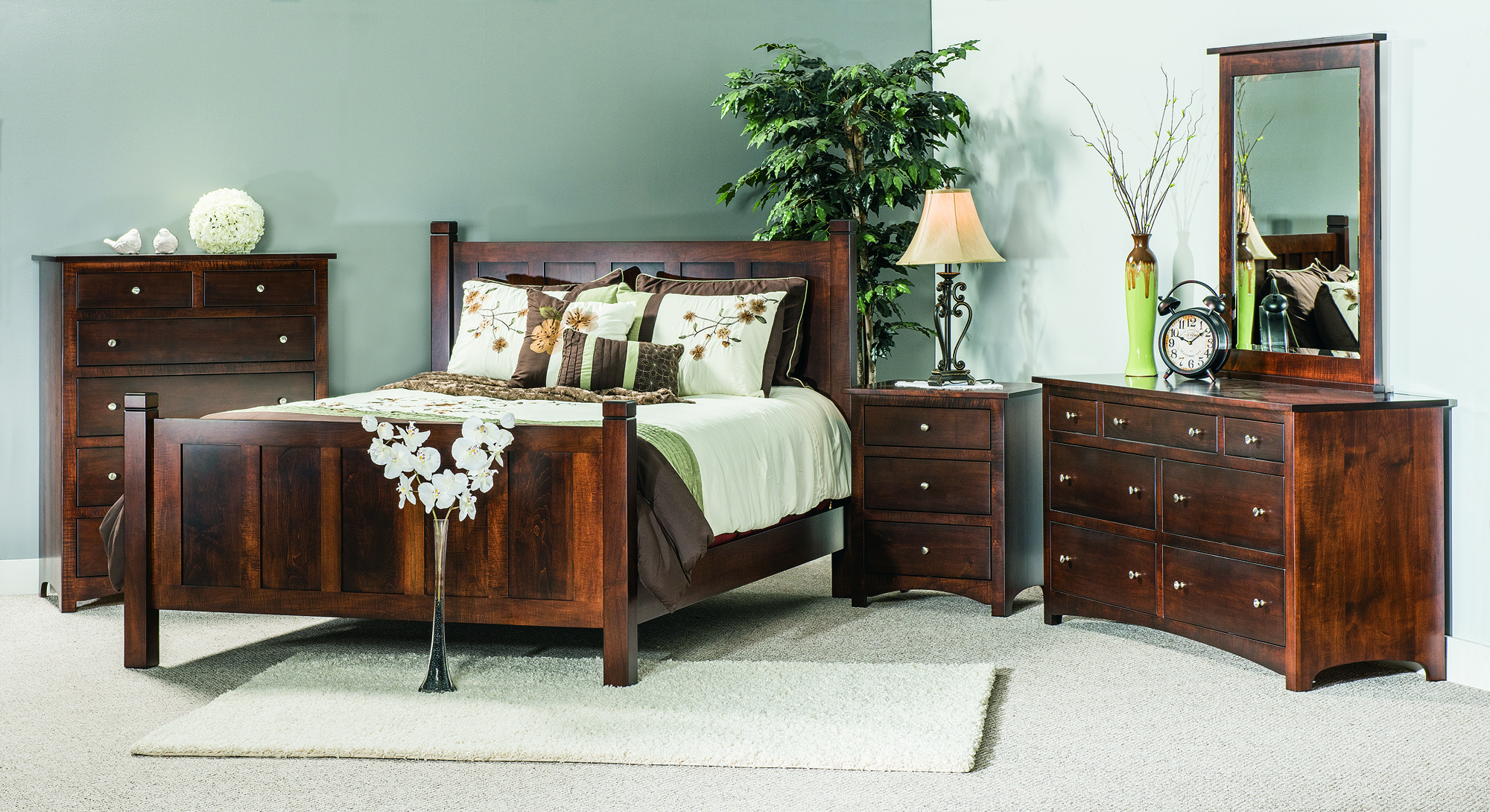 Amish Shaker Bedroom Collection  Custom Amish Furniture