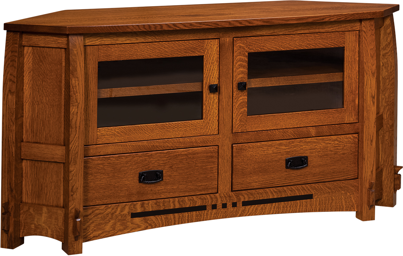 Corner TV Cabinets and Stands  Brandenberry Amish Furniture