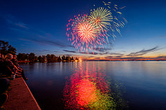 Sylvan Lake Fireworks, by  Alan Paone