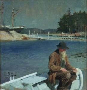 Kalastaja, Albert Edelfelt.