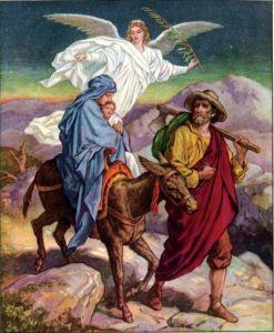 Josef ja Maria pakenevat Egyptiin