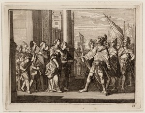Jefta kohtaa tyttärensä ovella.