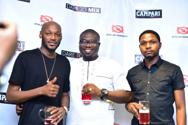 2Baba Excites Football Fans With Campari Senator… Watches Real Madrid vs Barcelona Match in Lagos Beer Parlour - Brand Spur
