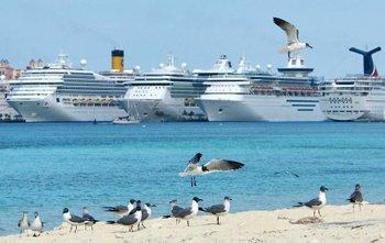 Docked Mega Ships