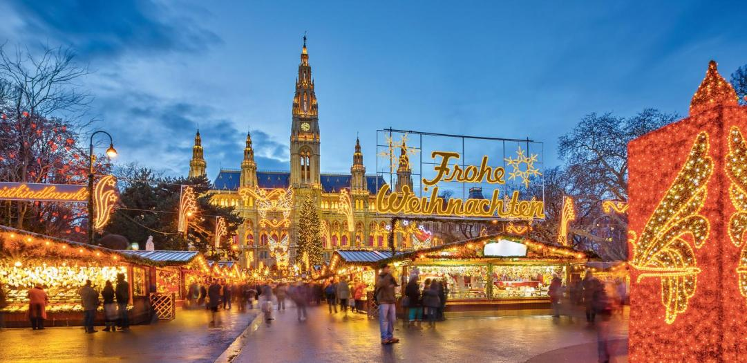 Vienna Christmas Market.European Christmas Markets River Cruise Brand G Vacations