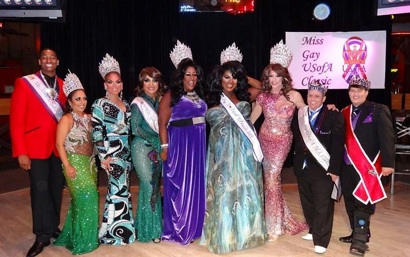Miss Gay USofA Classic 2014 Chevelle Brooks and the royal court
