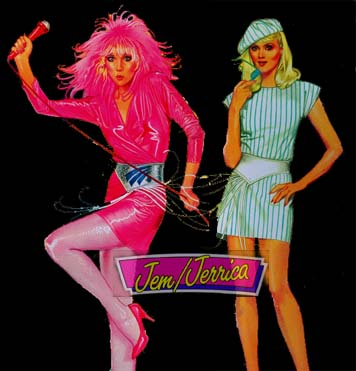 Jem Jerrica cartoon characters in drag faux queen cartoon characters