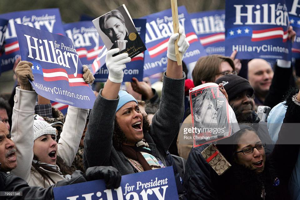 2008 Hillary primary rally in Texas. (That's me on the bottom right corner).