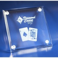 Promo Gear. 3D Crystal glass drink coaster